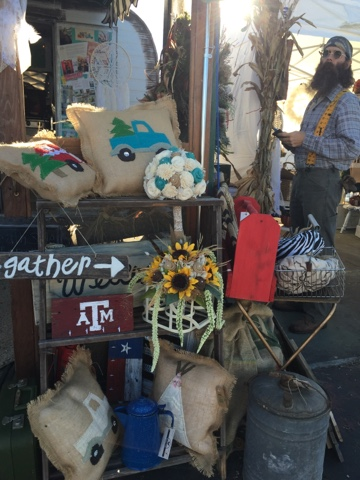 Gypsy Farm Girl and Rooster Tails craft fair booth