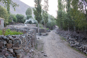 Street leading into the village, Golaghmuli, Ghizer