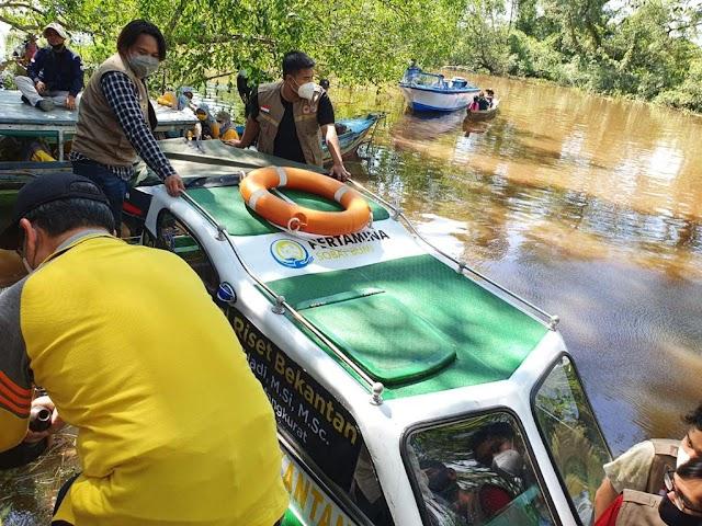 Maknai Hari Lingkungan Hidup Sedunia, Pertamina Lepas Kapal Riset di Area Konservasi Bekantan Batola