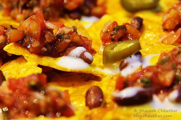 Close-up of Frisco Nachos at Frisco, Koregaon Park, Pune
