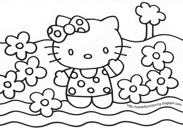 Colour Book Hello Kitty  Color Book Hello Kitty Cool Hello Kitty Coloring  Pages Show Free