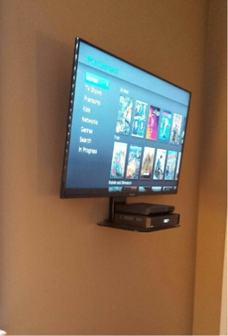 Flatscreen Tv Wall Mount With Component Shelf