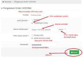 pilih alamat website