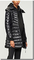 Moncler Quilted Shell and Down Blend Coat