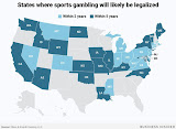 Here are the states where sports betting is expected to be legal within 5 years
