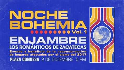 ENJAMBRE Y LOS ROMÁNTICOS DE ZACATECAS JUNTOS EN CDMX