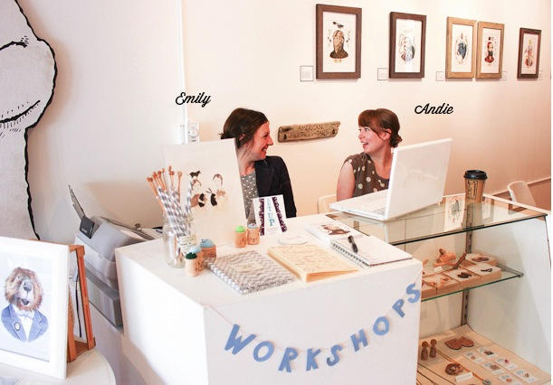 pretty girls andie emily assemble shop gallery and studio