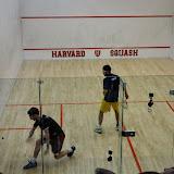 Harvard senior Gary Power playing Trinity's Juan Camillo Vargas in the #4 spot.