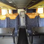 Het interieur van de Setra van Van Fraassen Travelling bus 457