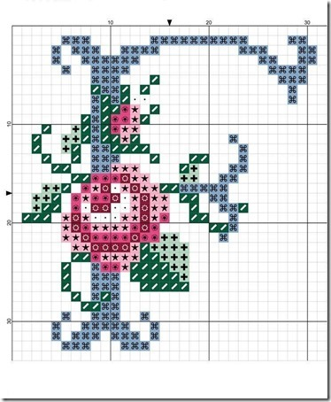abc punto cruz letras con rosas  (5)