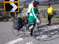 Angela with panniers!