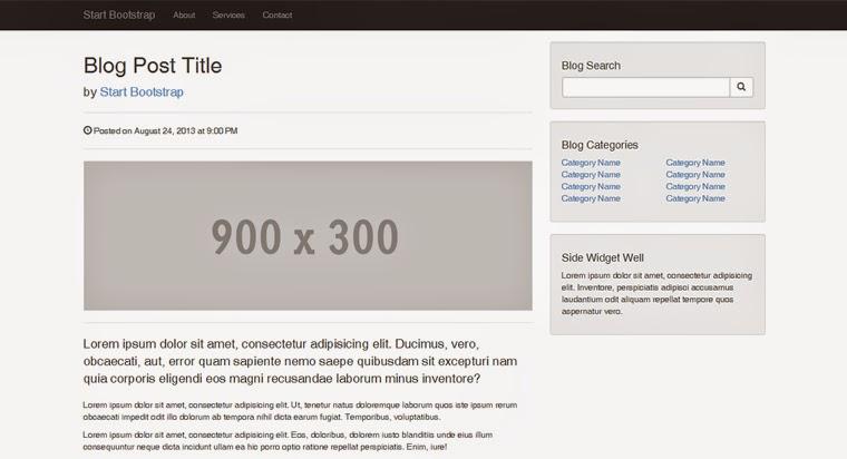 Blog post bootstrapthemes free bootstrap themes templates maxwellsz