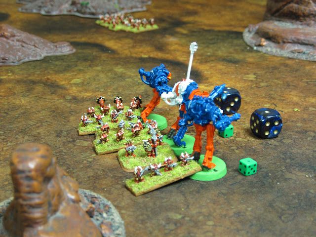 The Lancers have some Khorne in their rear.
