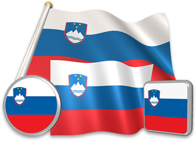 Slovenian flag animated gif collection
