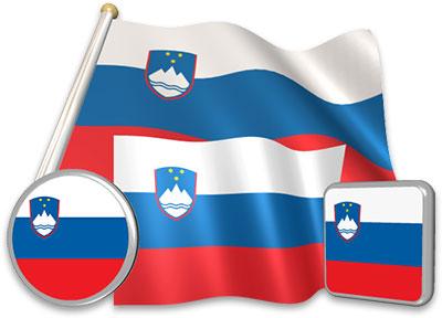 Slovenian flag animated gif collection