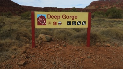 Deep Gorge Sign