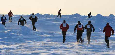 North Pole Marathon, carrera