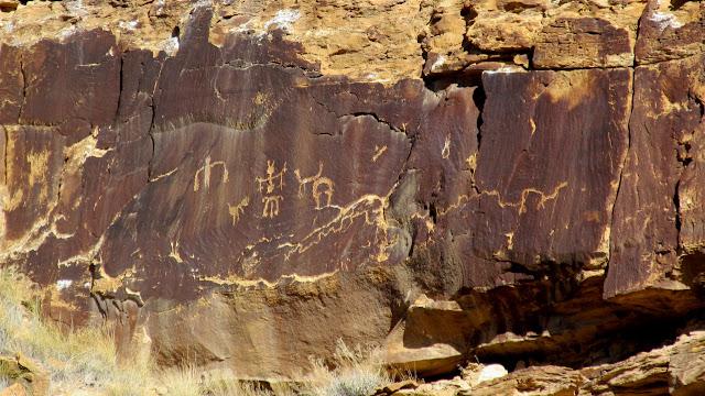 Small petroglyph panel along my climbing route