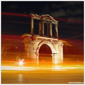 Афины ночью