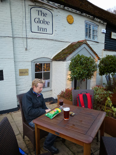 A pint at the Globe Inn