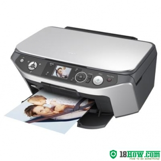 How to reset flashing lights for Epson RX565 printer