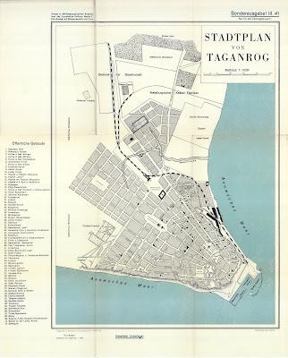 Немецкая карта Таганрога 1940