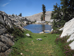 Small lake at the top of the ridge... great swimming spot to cool down on the way to the top of Madera.