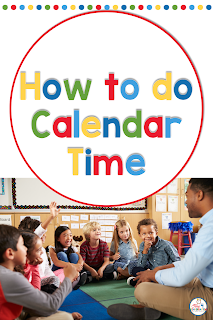 Use calendar notebooks to create an interactive and engaging calendar time