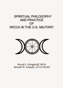 Cover of David Oringderff's Book Spiritual Philosophy And Practice Of Wicca In The US Military