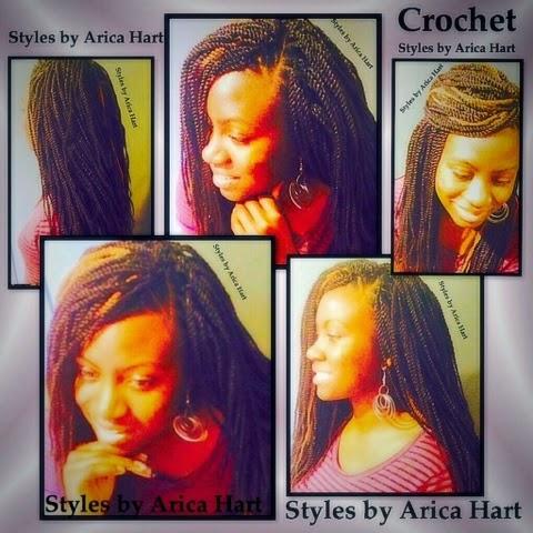 Crochet hair styles, Senegalese crochet, black hair styles, protective styles, styles by Arica hart