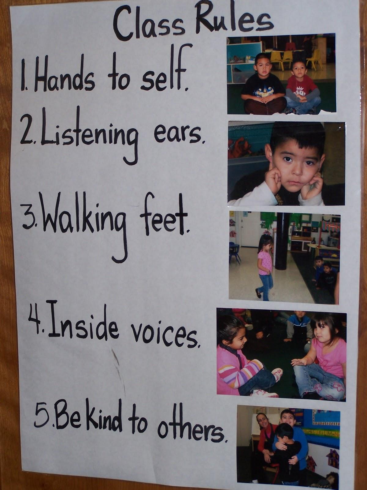 camera13 - Pre Kindergarten Classroom Rules