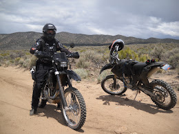 Riding off road KTM bikes with old friend Glen Williams in Nevada.