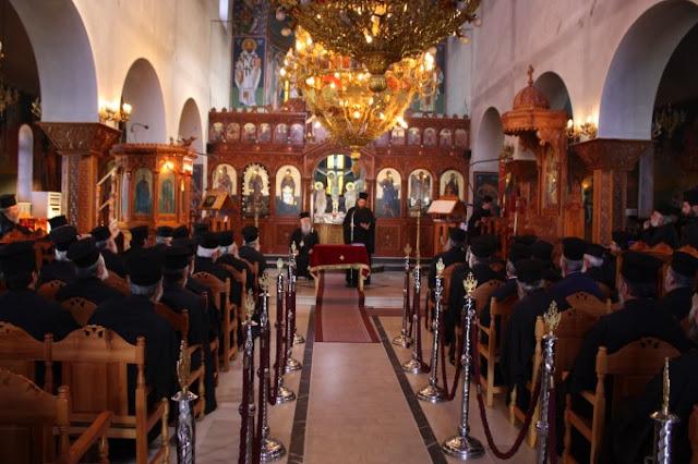 Πραγματοποιήθηκε σήμερα η Ιερά Σύναξη Κληρικών της Μητροπόλεως Παραμυθιάς