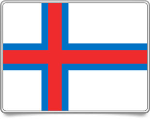 Faroese framed flag icons with box shadow