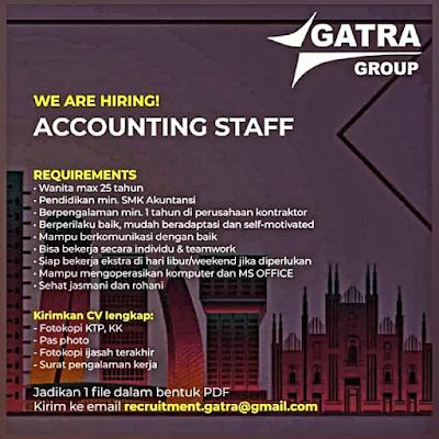 Lowongan Kerja Accounting di Gatra Group