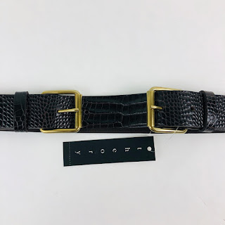 Theory NEW Brown Embossed Belt