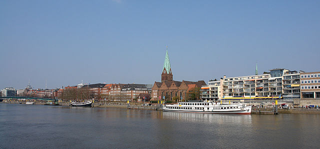 El río Weser se hace navegable en la ciudad de Bremen