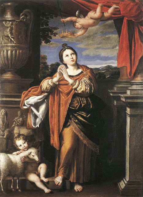 Domenichino - Saint Agnes