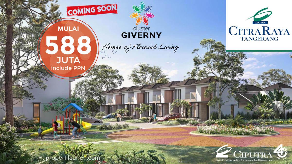 Rumah Cluster Giverny CitraRaya Harga 588 jutaan