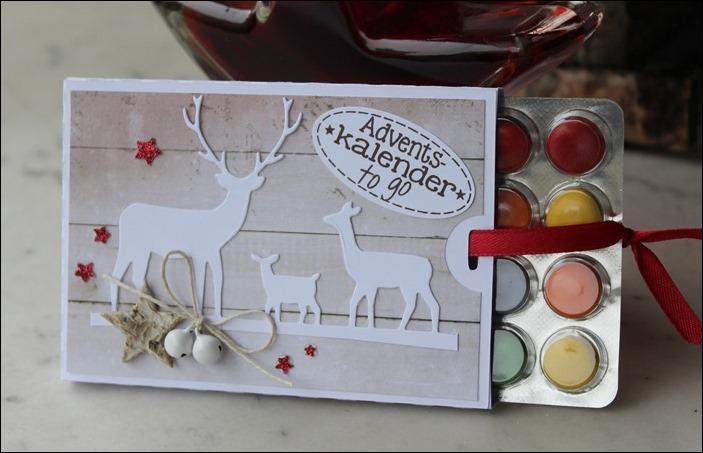 Adventsmarkt Adventskalender to go Verpackung Stampin Up Einhorn Hirsche Schlitten Zweige 03