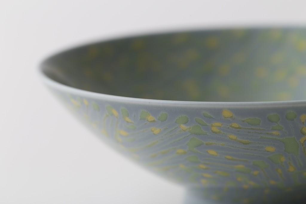 Hira-Chawan Flat Bowl (green x yellow)