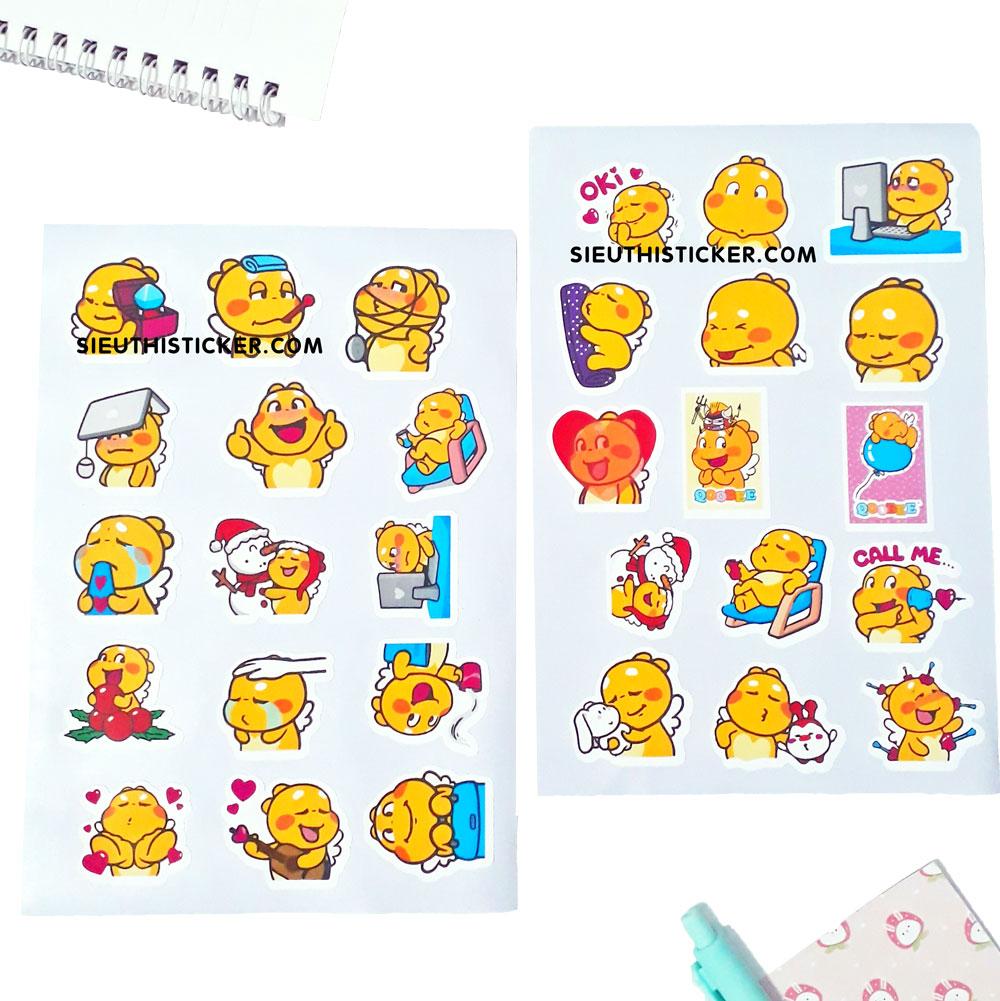 sticker giấy anime dễ thương