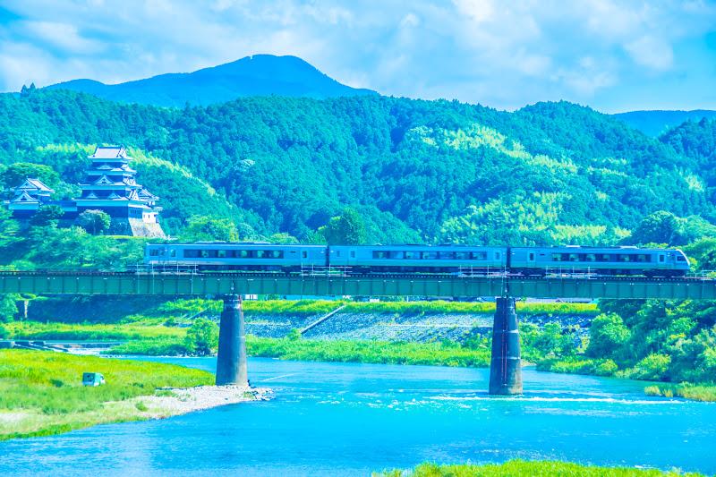 大洲城 肱川 予讃線 3
