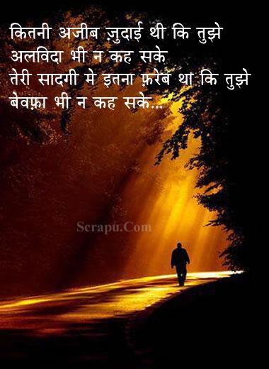 Shayari  Teri sadagi me itna fareb tha ki tujhe alvida bhi na kah sake