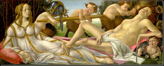 BOTTICELLI. VENUS Y MARTE. NATIONAL GALLERY, LONDRES