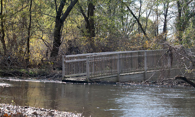 The remains of the bridge below Lake Henry at the north end of Ramapo reservation. Good ridance.