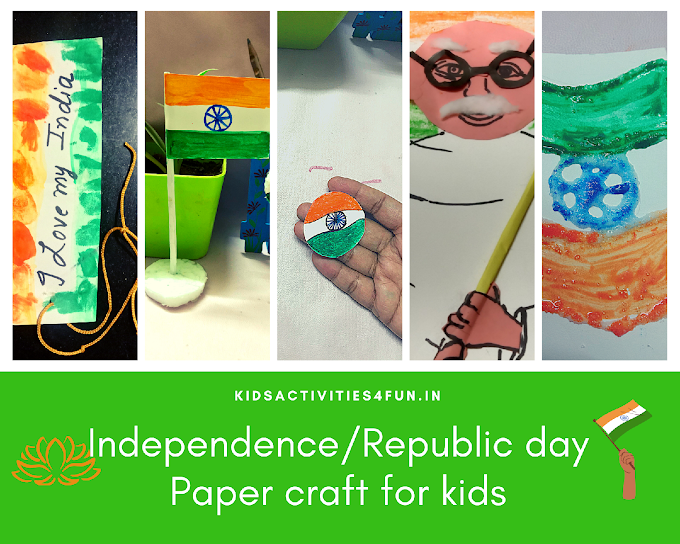 8+ unique INDIA Independence  Day and Republic Day easy craft for kids and How India's independence/Republic day celebrated.