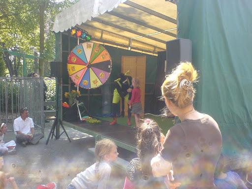 Op het podium op het Parktheaterfestival