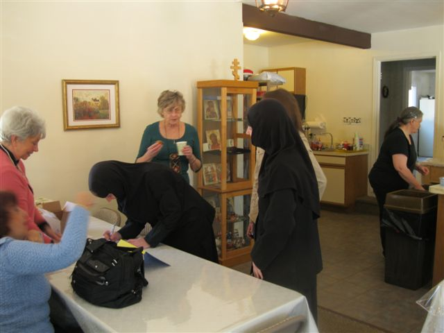 Two nuns from the nearby Greek Monastery in Calverton attended.