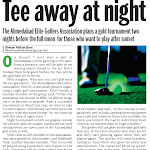 TAEGA Night Golf Media Coverage